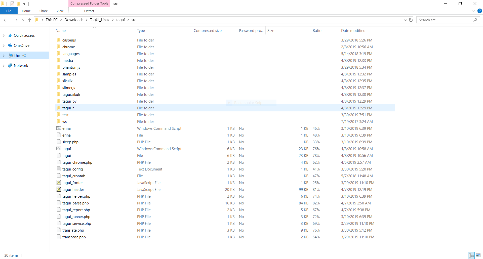 Windows zip file seems to not have tagui cmd command · Issue #449