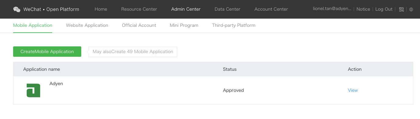 Register WeChat App Id · Adyen/adyen-ios Wiki · GitHub