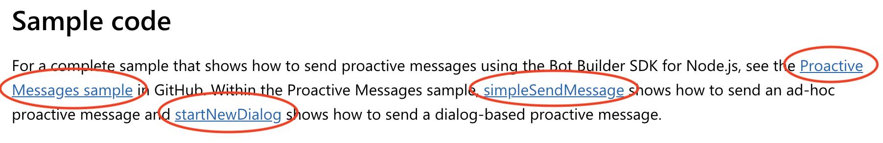 Broken links on nodejs/bot-builder-nodejs-proactive-messages (v3 0