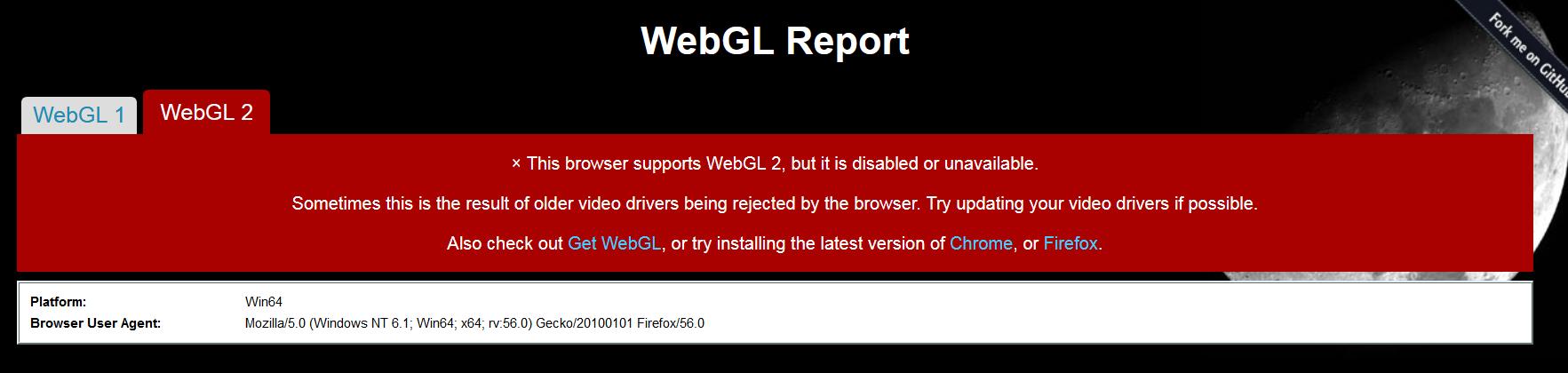 chrome disable webgl2