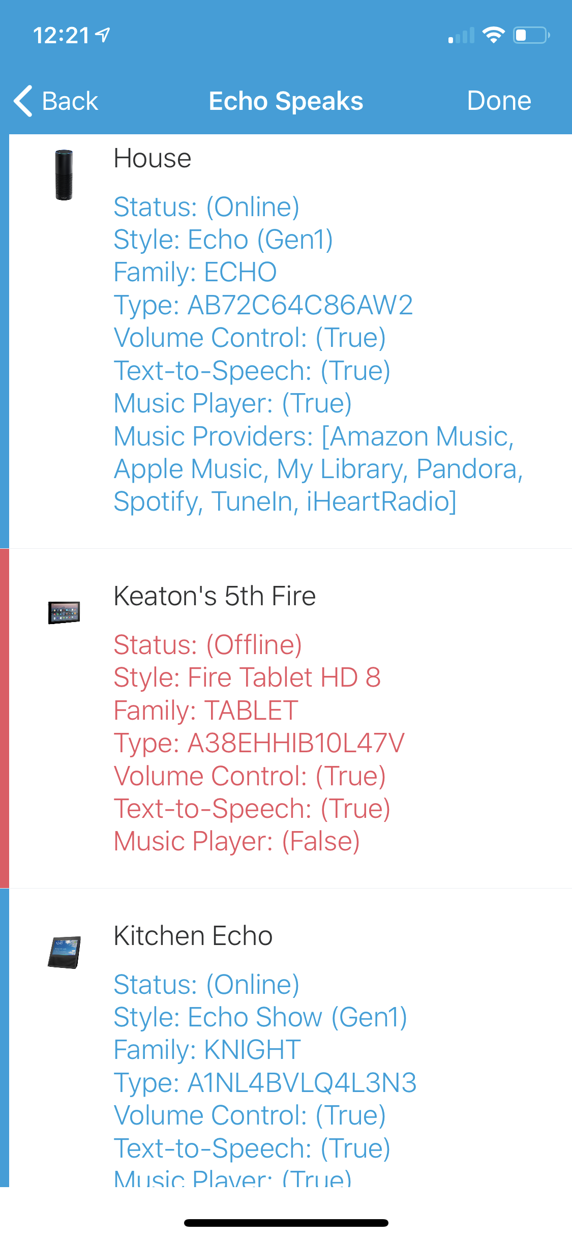 Kindle Fire Devices Show Offline · Issue #46 · tonesto7/echo