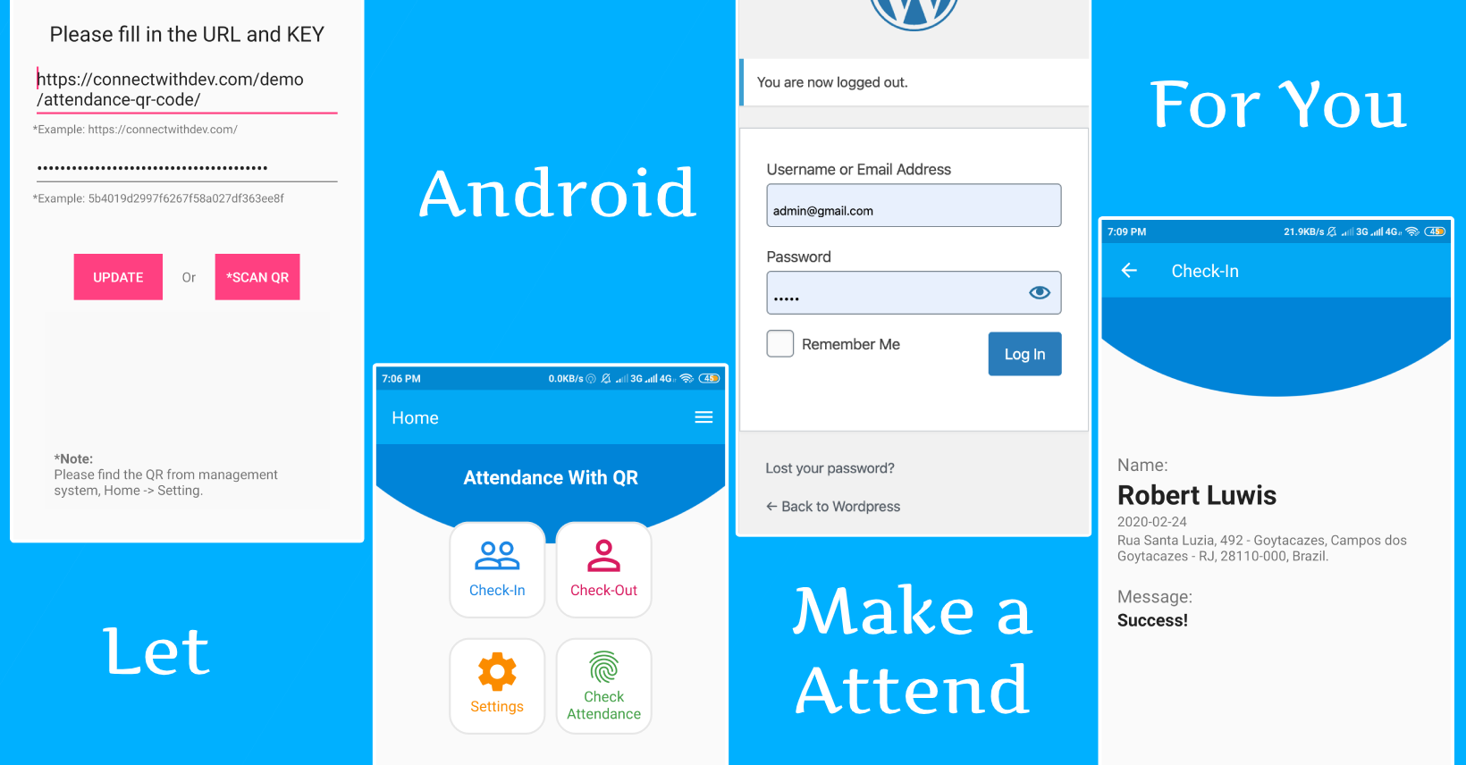 attendace with qr Android + CI