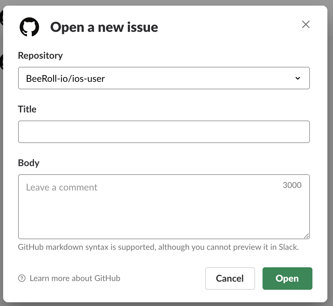 New Issues Opened Via Github Open Dont Use Template Issue 642