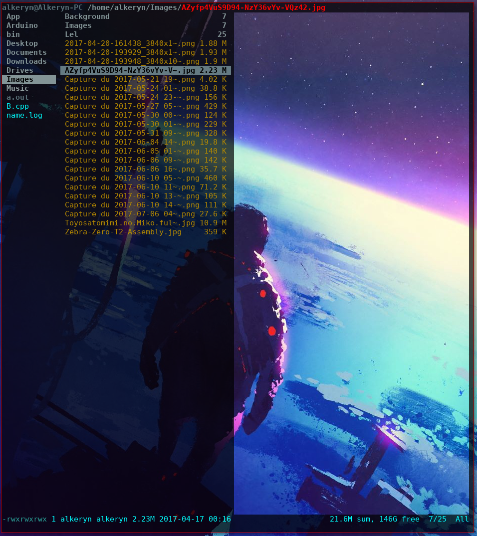 Image preview not working in ranger and w3m can't show them