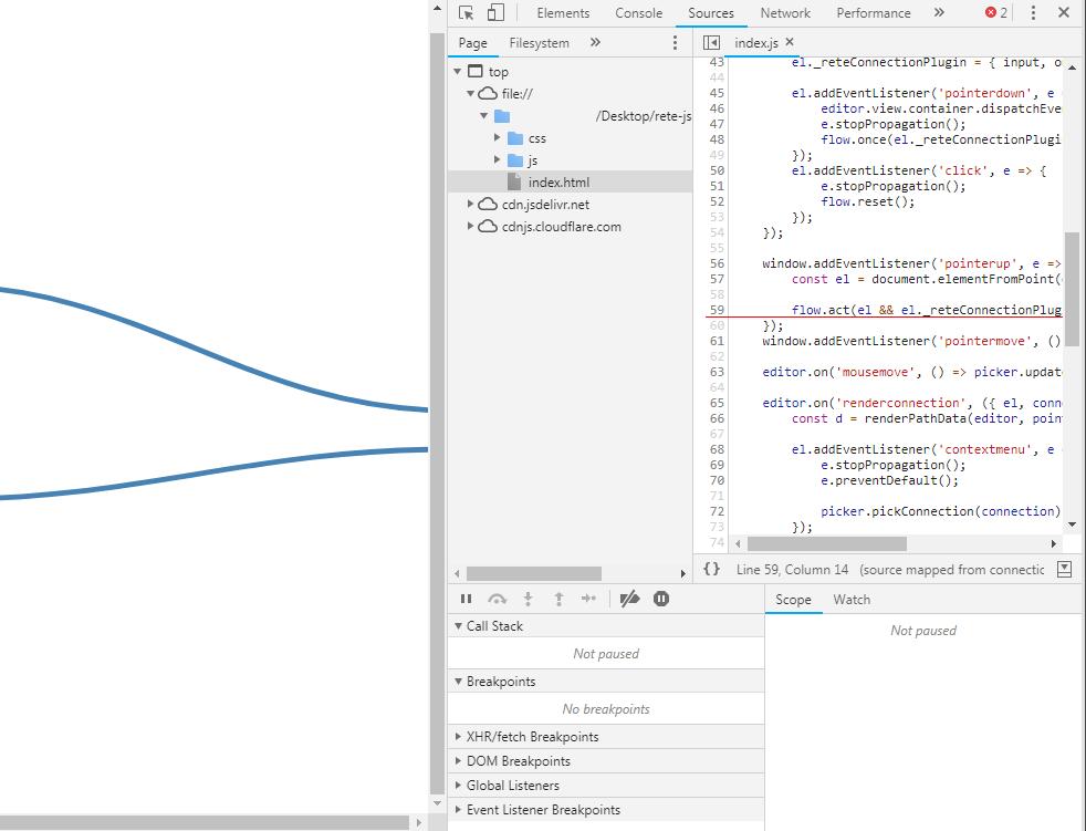 Connection Plugin Error · Issue #250 · retejs/rete · GitHub