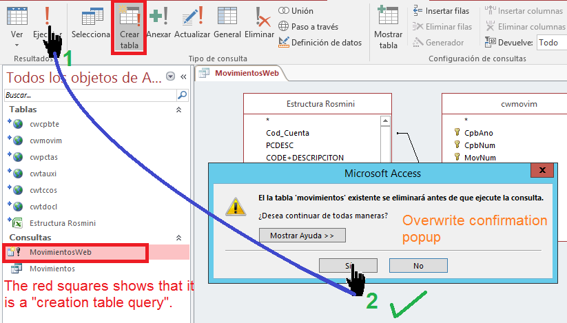 Force Overwrite Table On Ms Access Query Issue 269 Mkleehammer