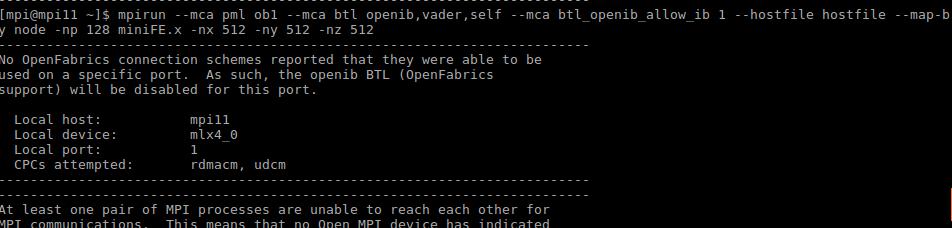 Error initializing an UCX / OpenFabrics device  · Issue #6300 · open
