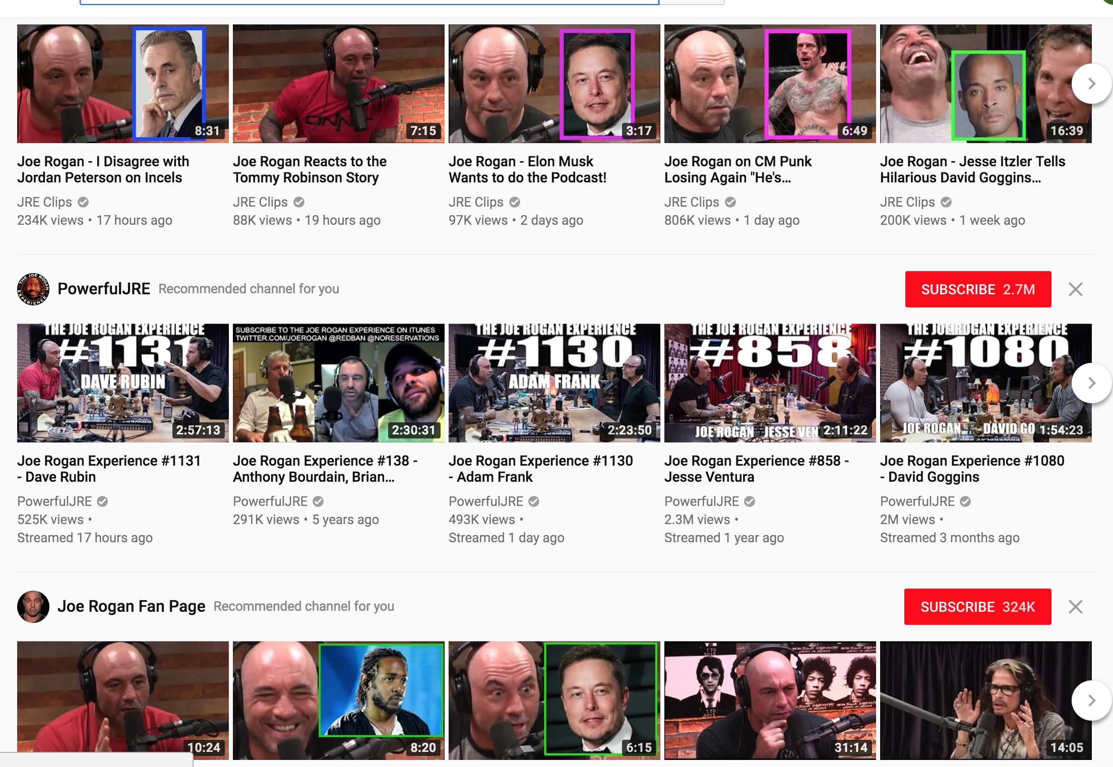 Joe Rogan - Youtube Popularity Bias  md · GitHub