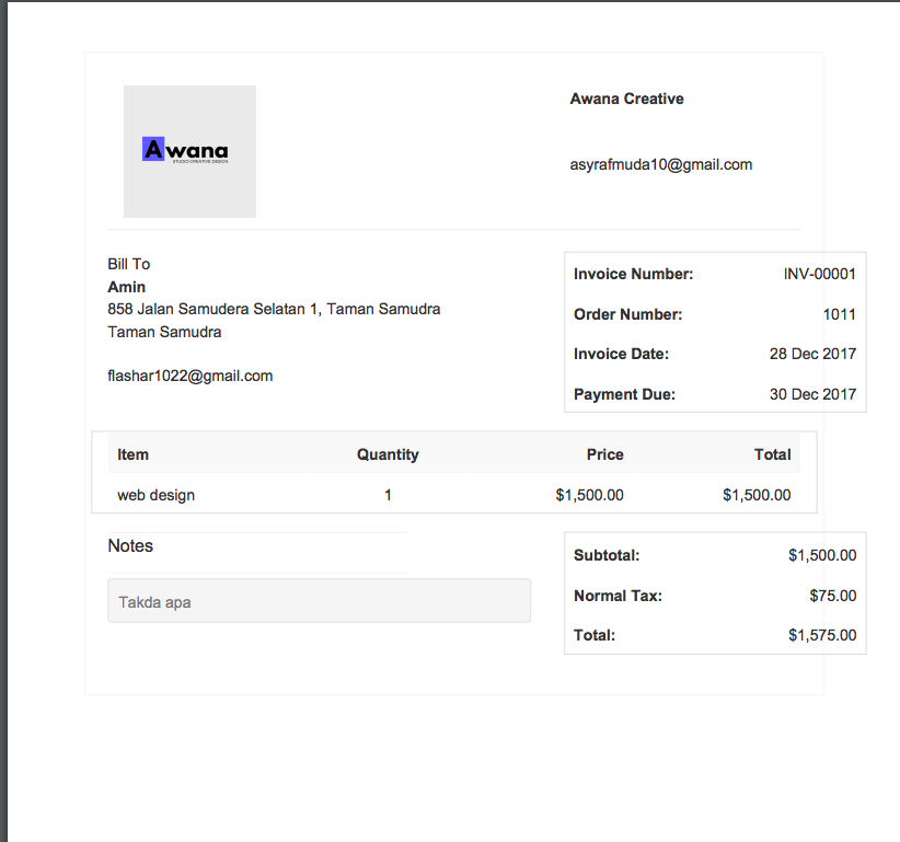 after download invoice the over line text not correct issue 171