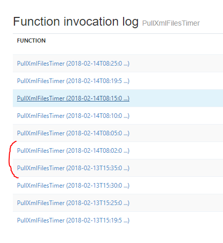 Azure function time trigger not resuming unless I visit the