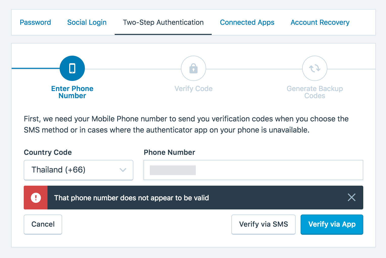 Thailand phone numbers not validating for 2FA · Issue #21862