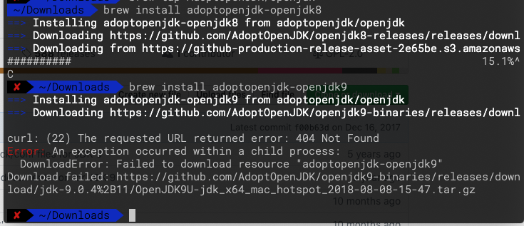 Cask with Openjdk9 doesn't work · Issue #35 · AdoptOpenJDK/homebrew