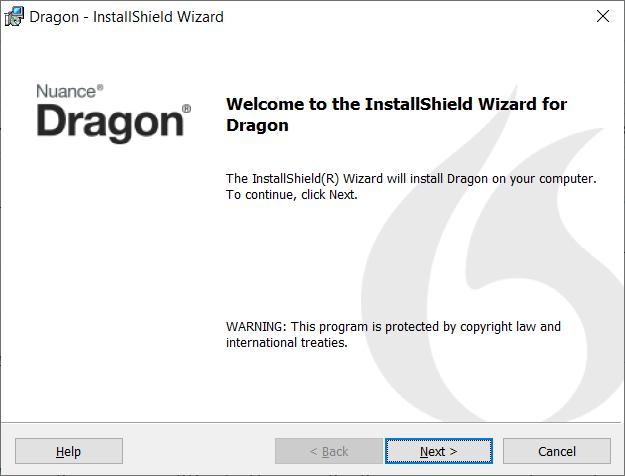Dragon InstallShield Wizard