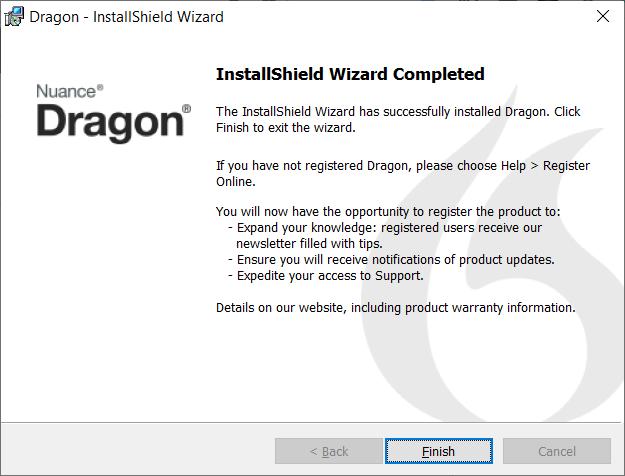 DragonDictate InstallShield Complete