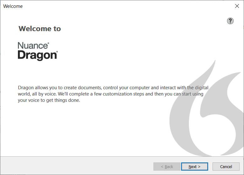 Welcome To Dragon Setup Wizard