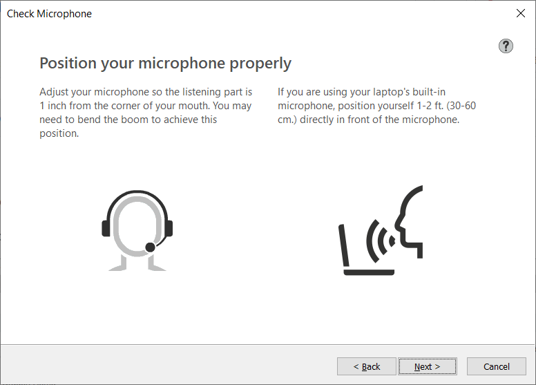 adjust your microphone