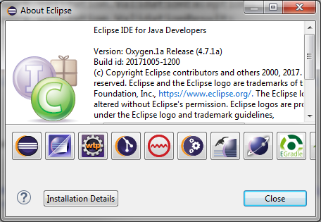 User having problems with Eclipse Oxygen 4 7 1a · Issue #76 · de