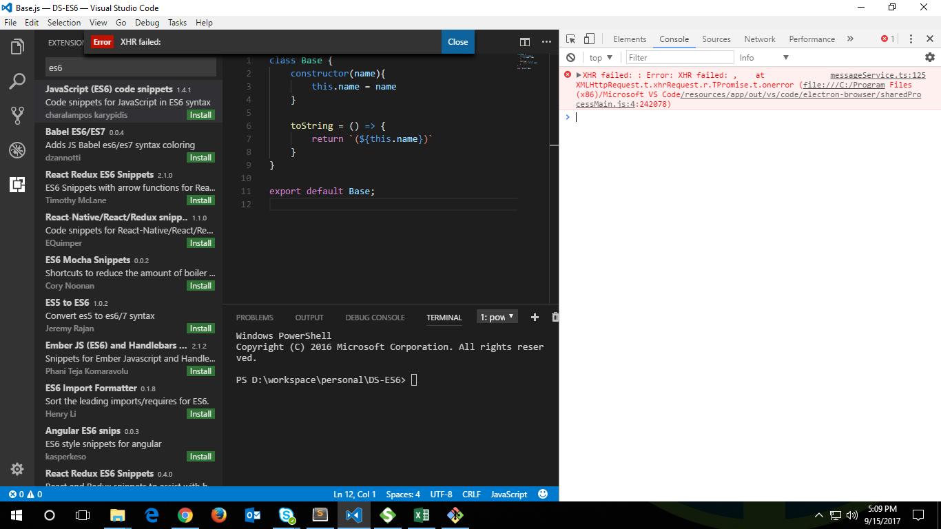 XHR Failed on trying to install plugins via Visual Studio