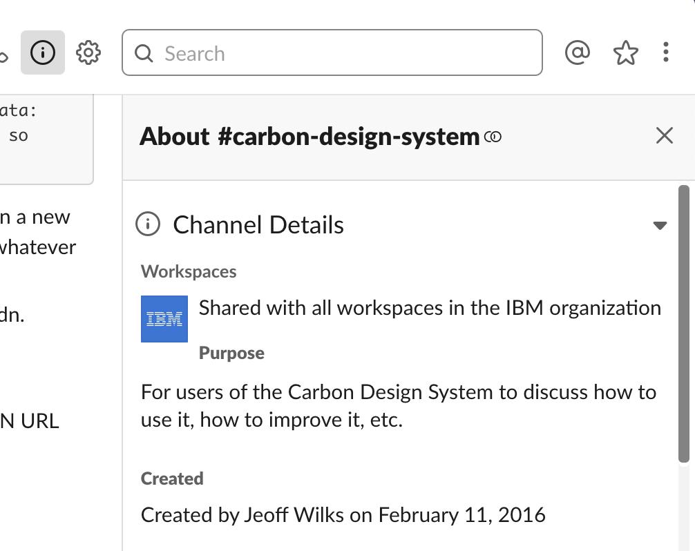 Update Slack channel descriptions · Issue #87 · carbon