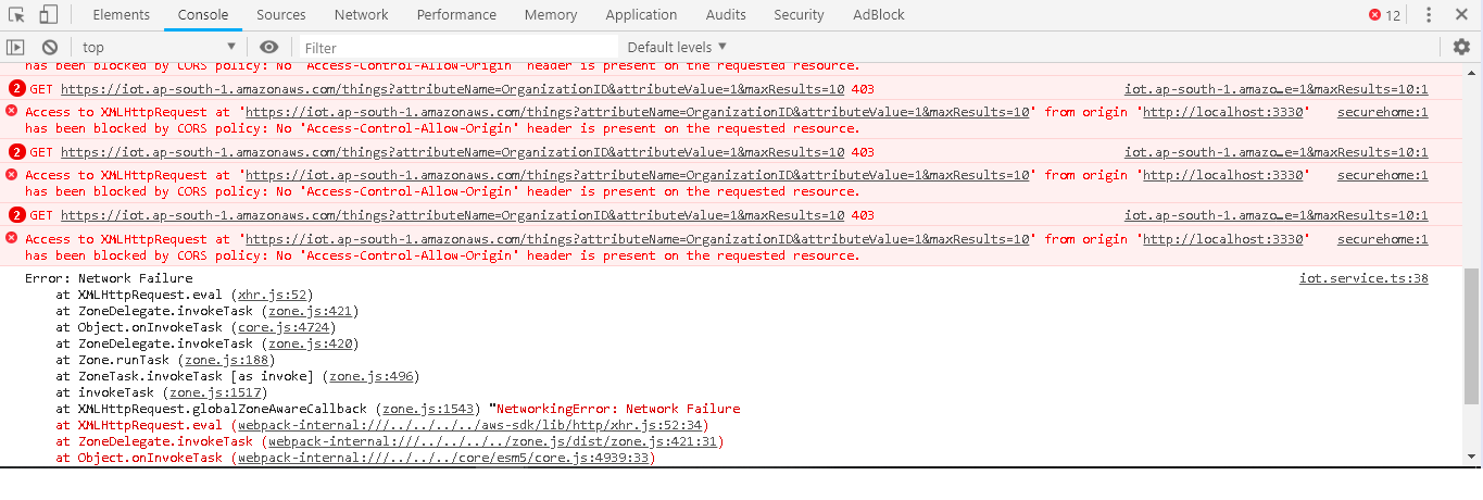 Not able to access AWS IoT service · Issue #2329 · aws/aws-sdk-js