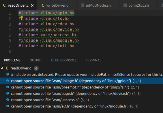 Include path doesn't include the custom paths inserted