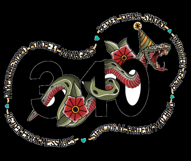 Python 3.10 release logo