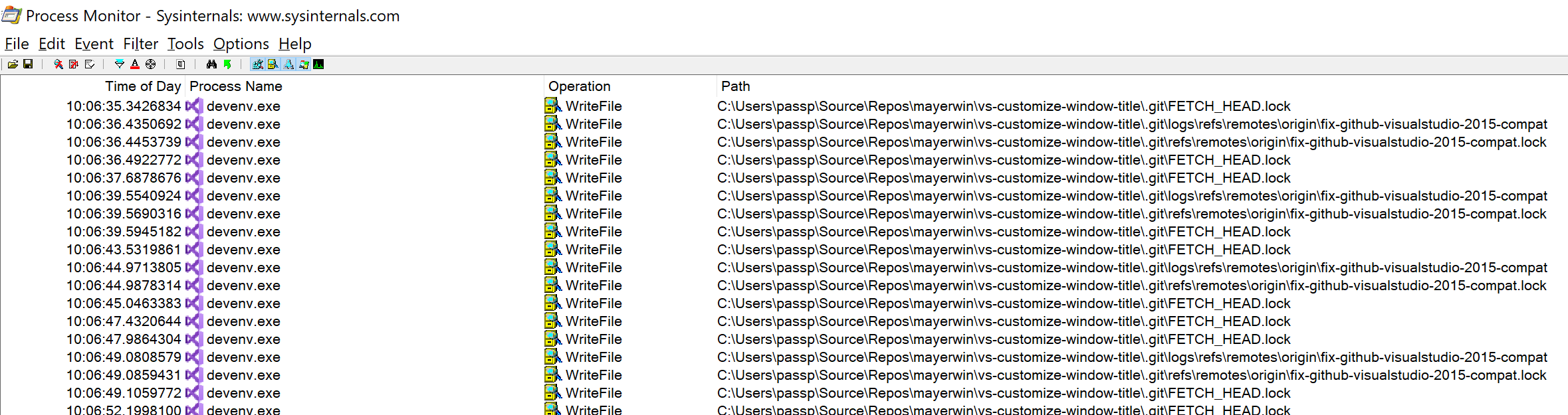 Externally contributed pull requests get stuck in loop fetching