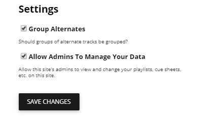 User Access Setting