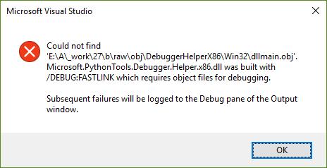 MMD: debugger helper built with /DEBUG:FASTLINK · Issue