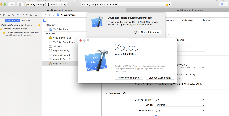 xcode 9.2