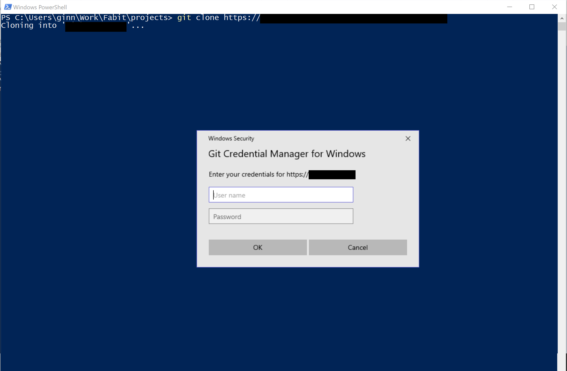 git credential manager for windows password
