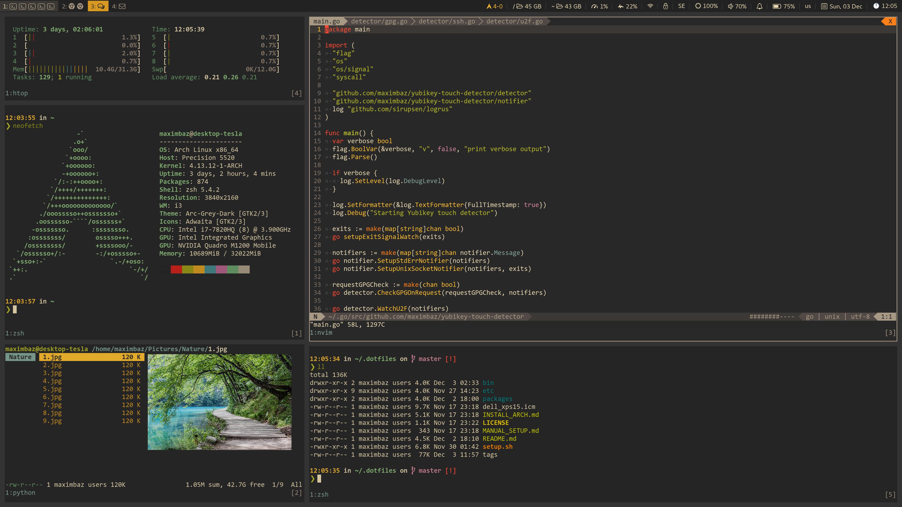manjaro linux install i3