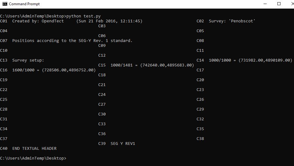 ASCII file headers get garbled · Issue #317 · equinor/segyio · GitHub