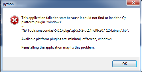 Anaconda not opening: couldn't find or load Qt platform