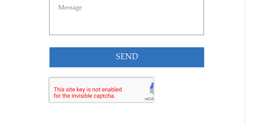 This site key is not enabled for the invisible captcha  · Issue #18