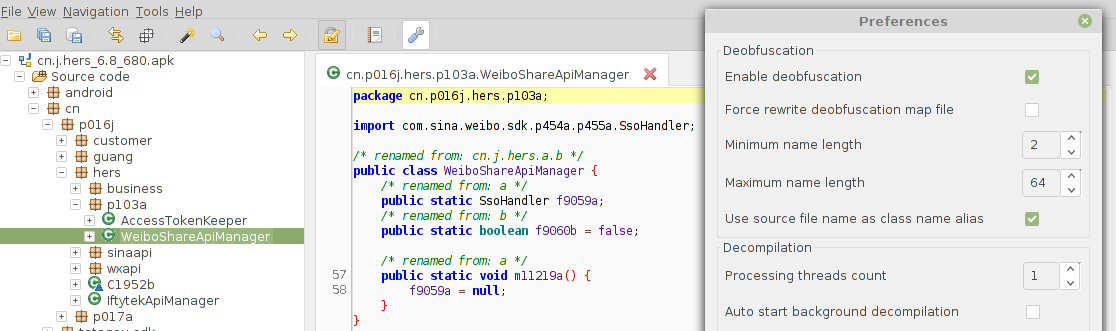 use source filename to rename obfuscated class name · Issue