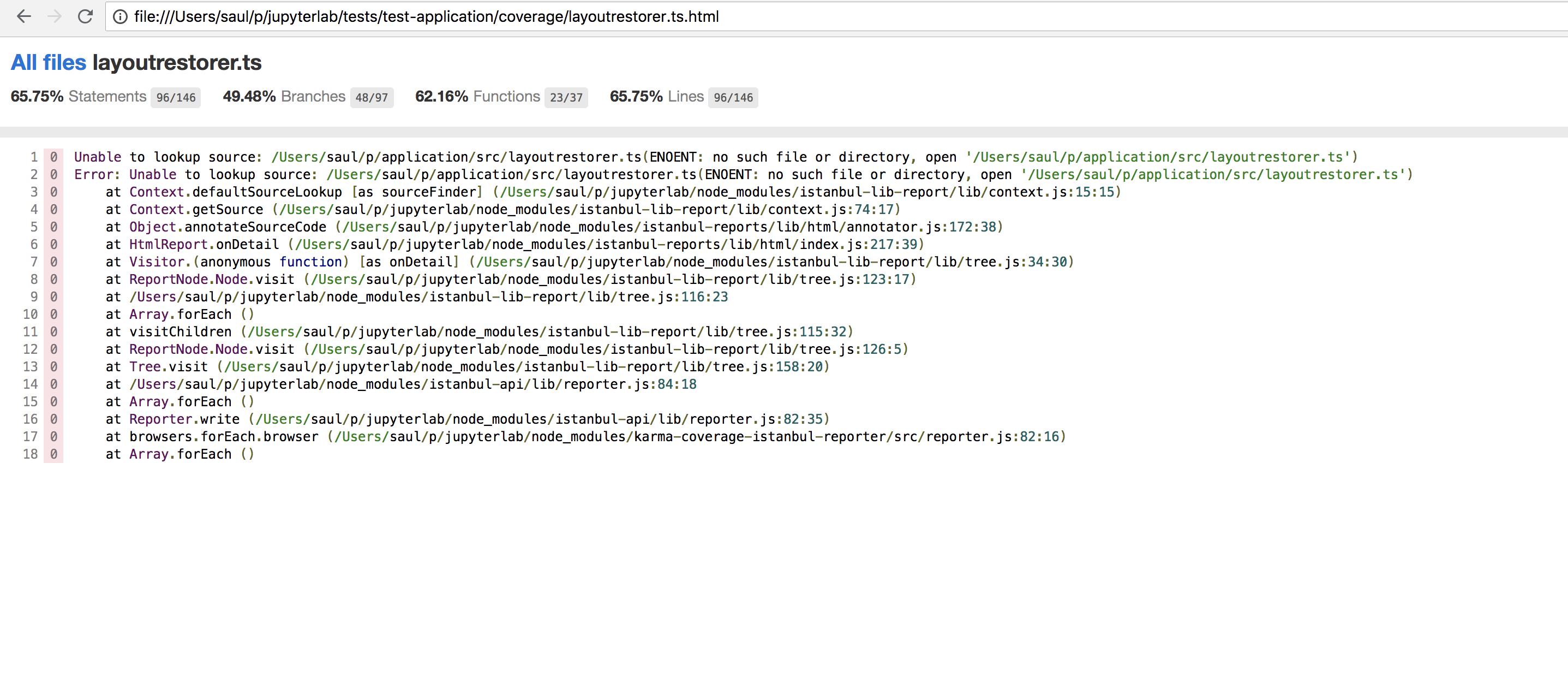 Show Code Coverage Somewhere · Issue #4816 · jupyterlab