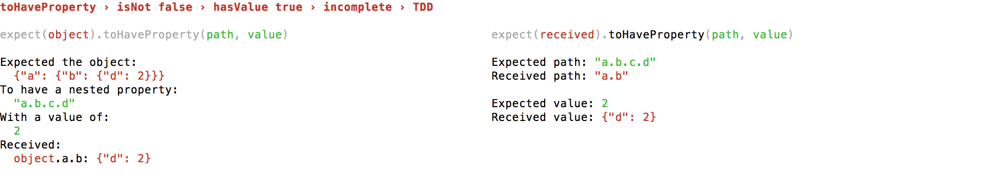 false true incomplete TDD