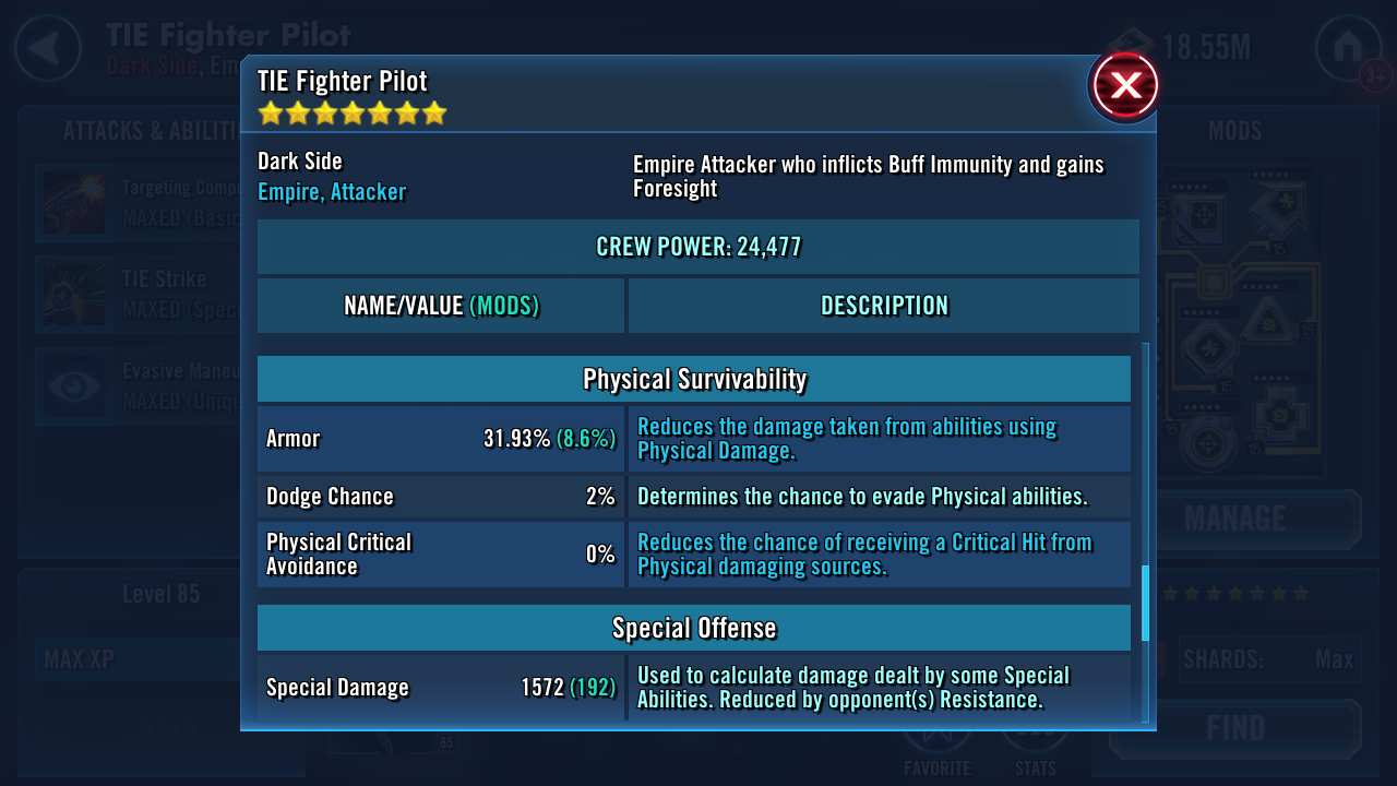 Values from SWGOH GG Don't match ingame values · Issue #321 · jedi