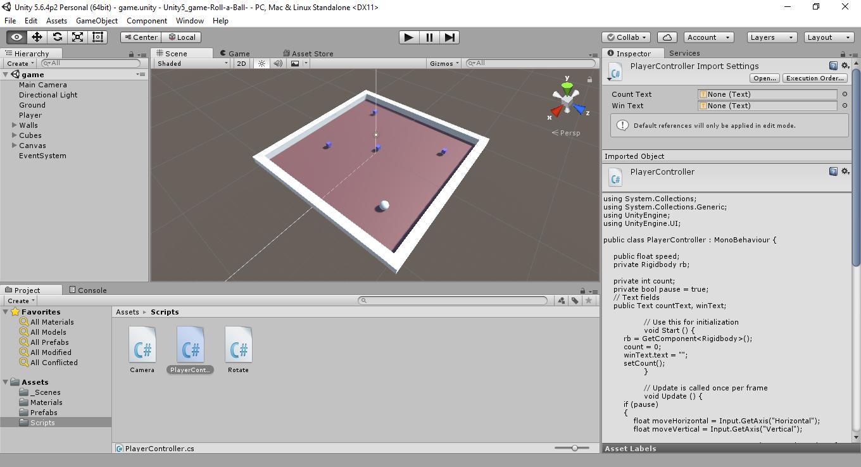 Unity 5 Game Roll A Ball - UnityList