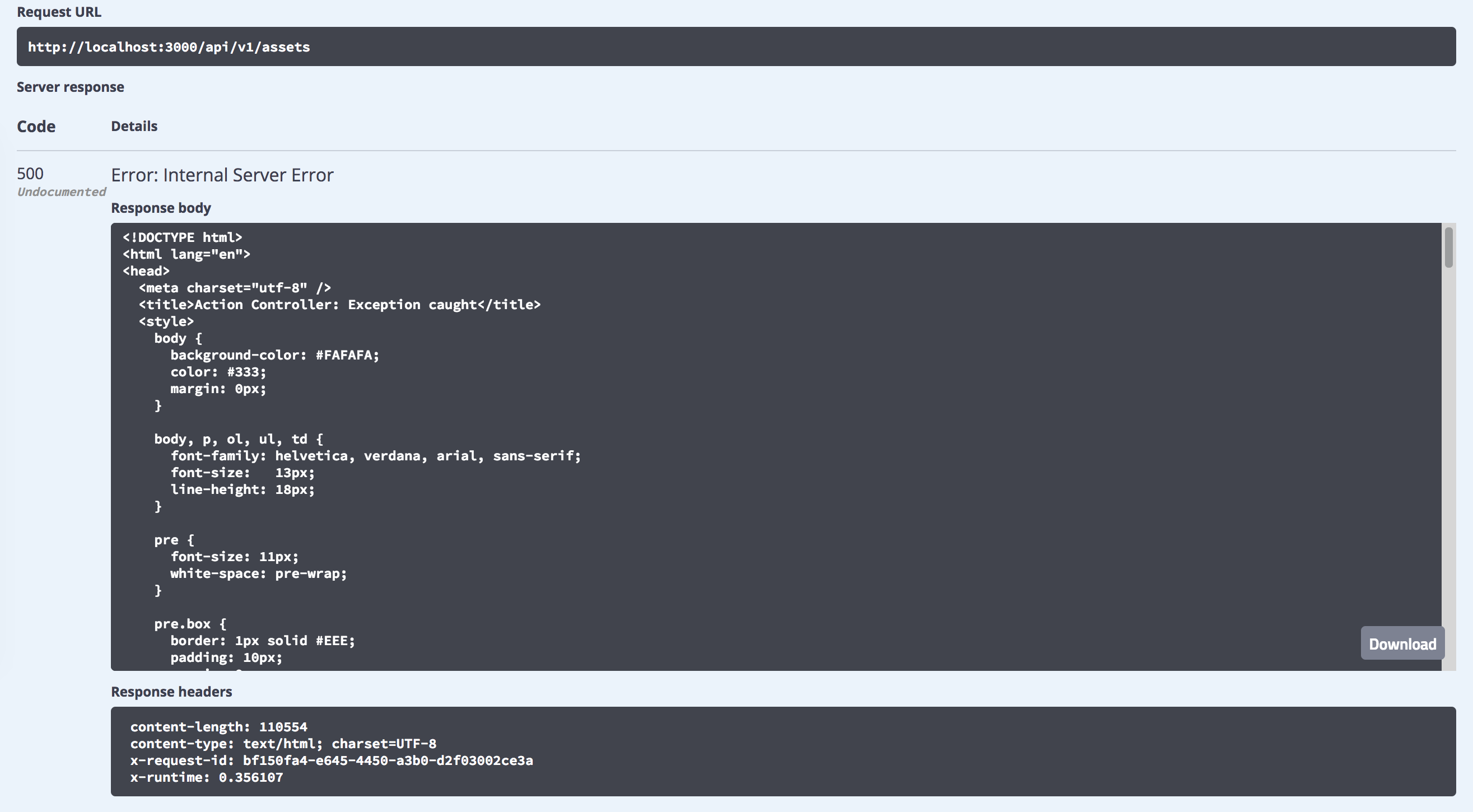 Preview page when content-type is html · Issue #4680 · swagger-api