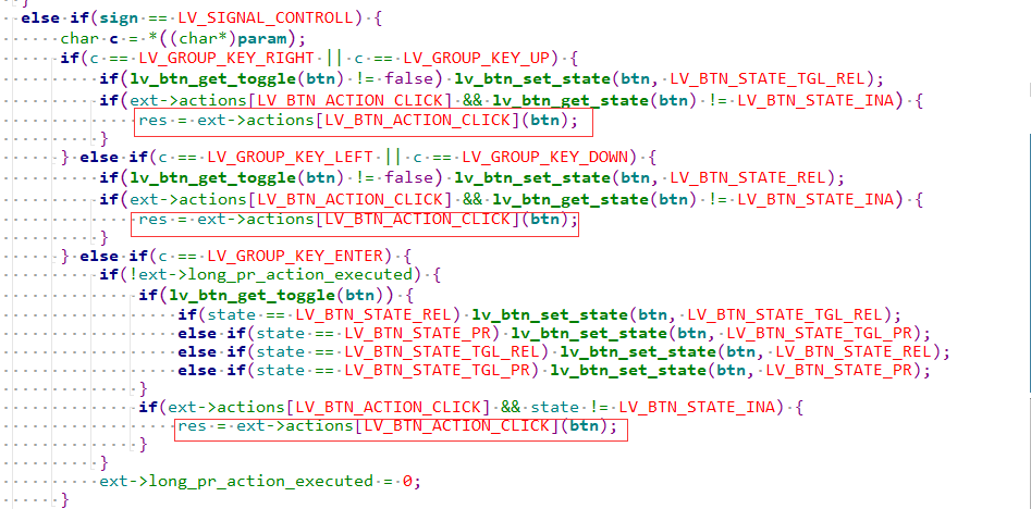 action key code