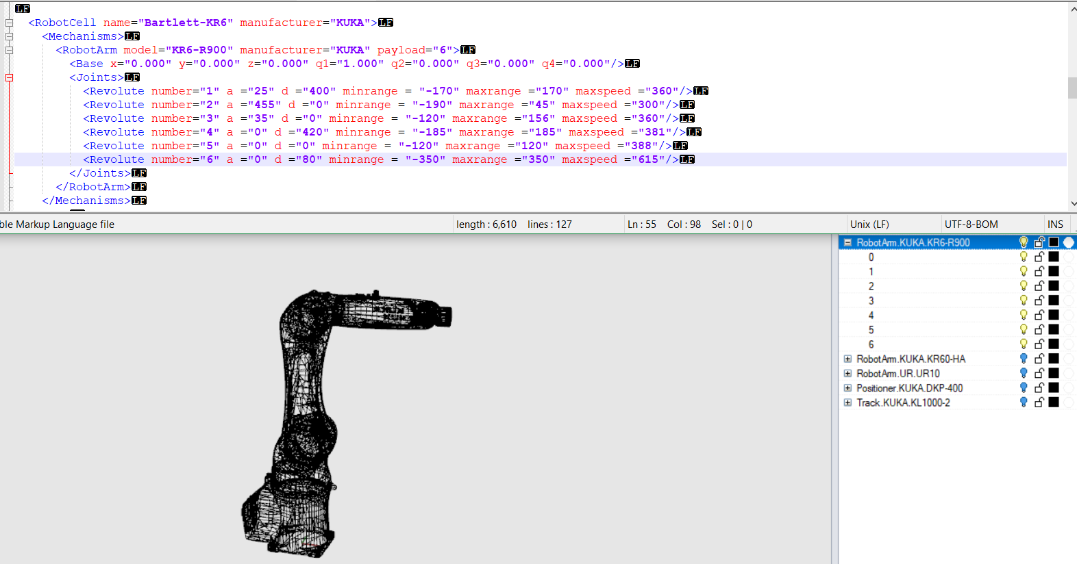 Tutorial on creating own robot xml + rhino file? · Issue #7 · visose