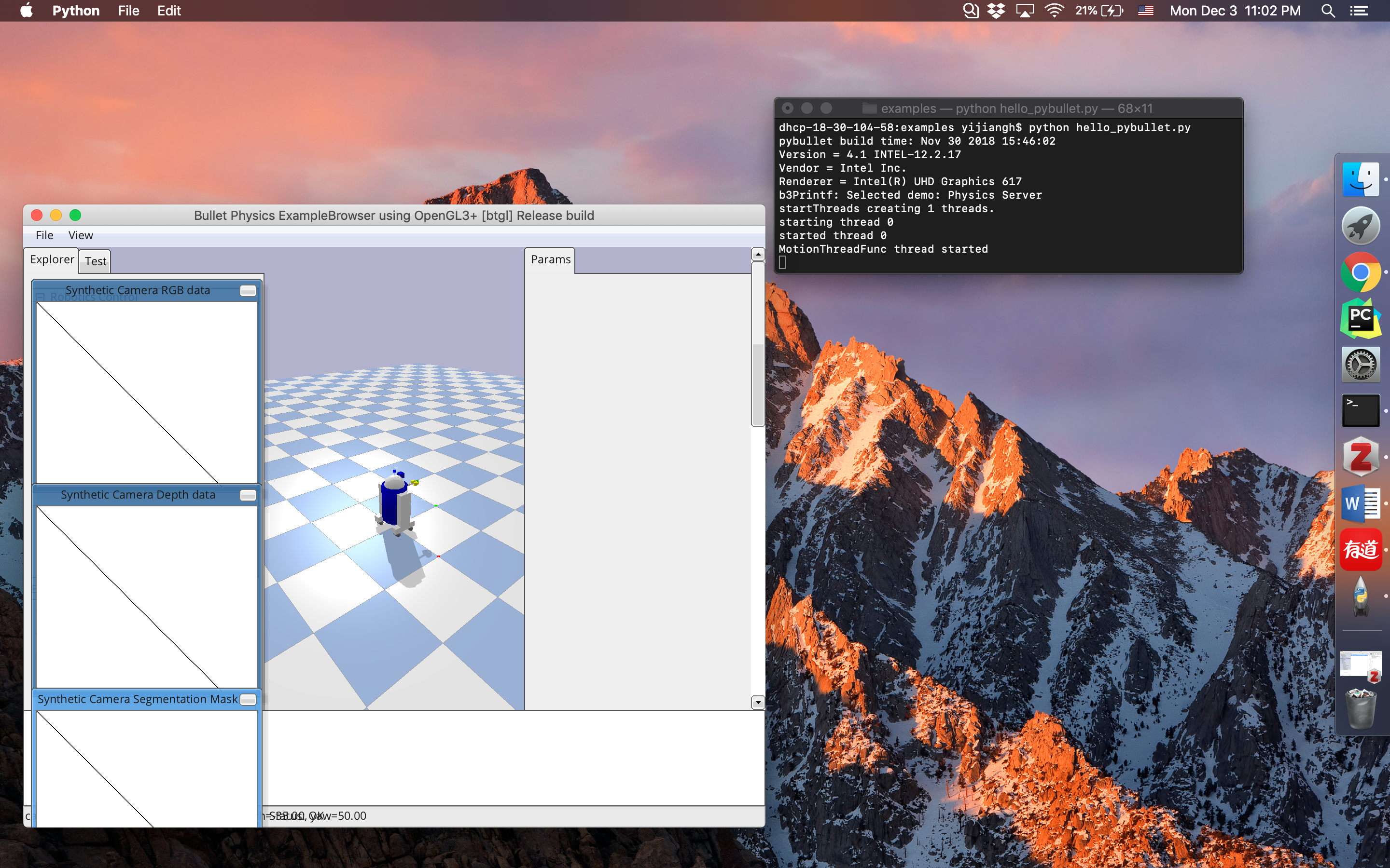 PyBullet GUI freeze in MacOS 10 14 1 · Issue #2014 · bulletphysics