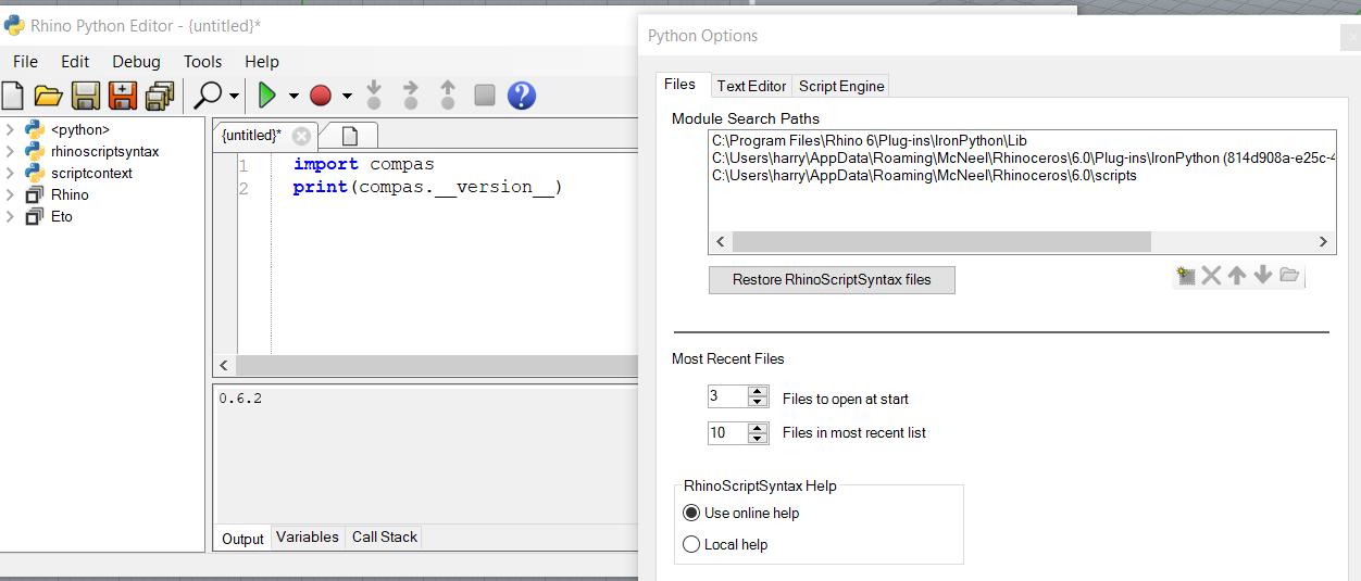 compas_rhino] import compas error in Rhino under non-admin Windows