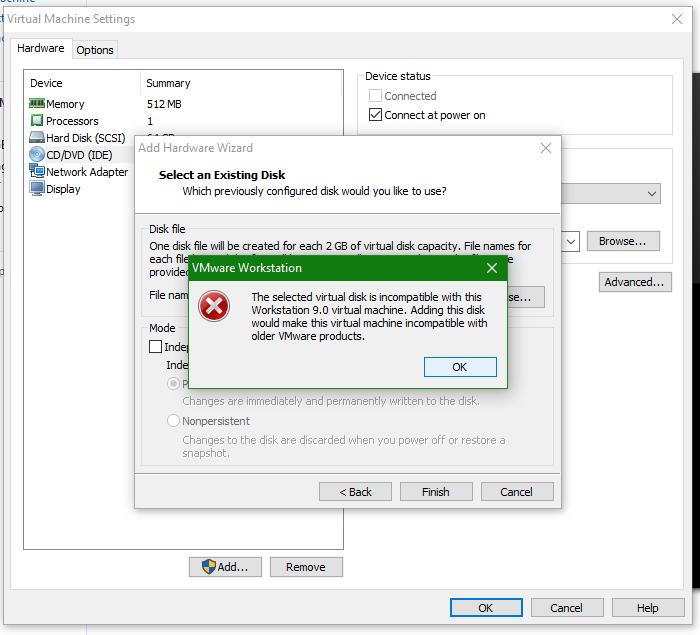 wmvare-iso unable to start machine on windows - invalid path