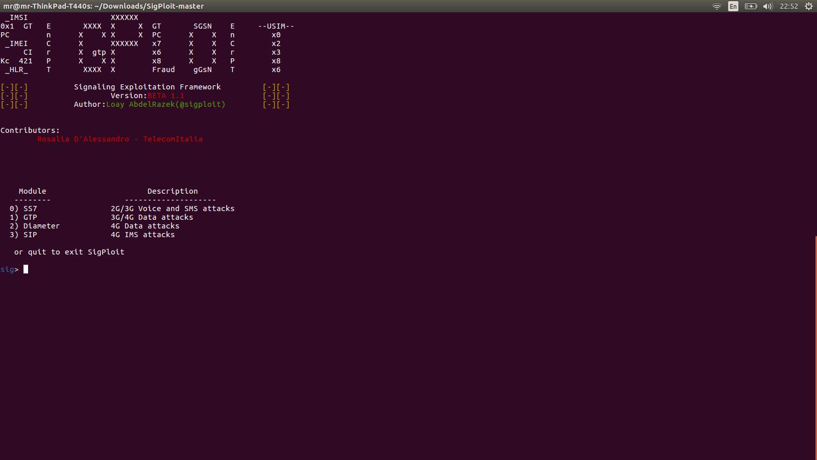 Problem when install new SigPloit · Issue #137 · SigPloiter
