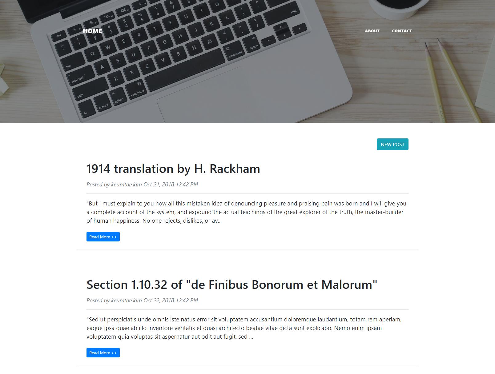 GitHub - keumtae-kim/spring-boot-react-blog: Token-based