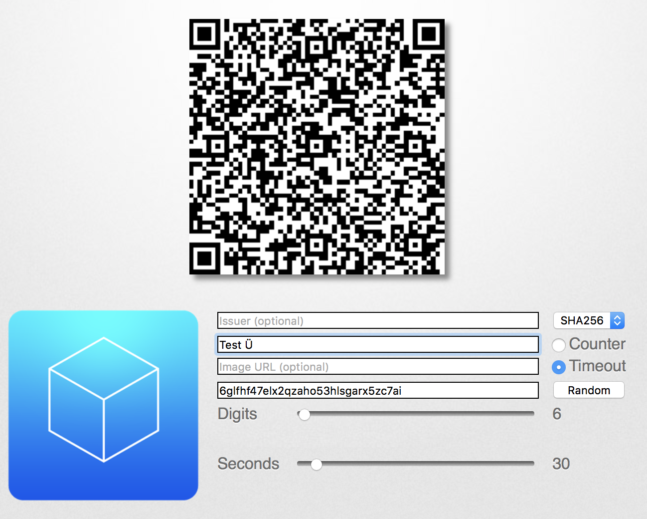Free OTP crashes when importing QR with special characters in