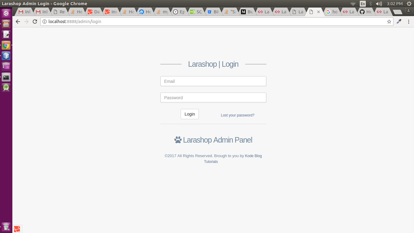 How To Login For First Time · Issue #5 · KodeBlog/Laradmin